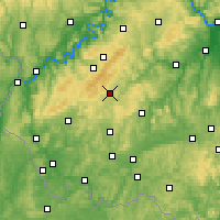 Nearby Forecast Locations - Idar-Oberstein - Carte