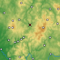 Nearby Forecast Locations - Fulda - Carte