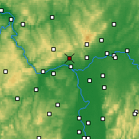 Nearby Forecast Locations - Wiesbaden - Carte
