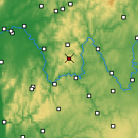 Nearby Forecast Locations - Spessart - Carte