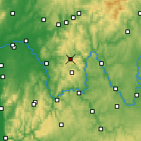 Nearby Forecast Locations - Neuhütten - Carte