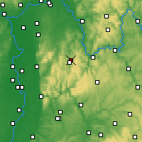 Nearby Forecast Locations - Odenwald - Carte