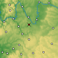 Nearby Forecast Locations - Giebelstadt - Carte
