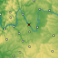 Nearby Forecast Locations - Wurtzbourg - Carte