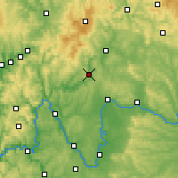 Nearby Forecast Locations - Bad Kissingen - Carte