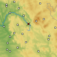 Nearby Forecast Locations - Bayreuth - Carte