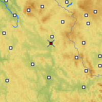 Nearby Forecast Locations - Weiden in der Oberpfalz - Carte
