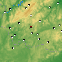 Nearby Forecast Locations - Saint-Wendel - Carte