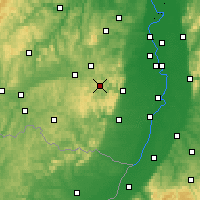 Nearby Forecast Locations - Pfälzerwald - Carte