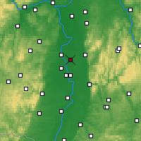 Nearby Forecast Locations - Lampertheim - Carte