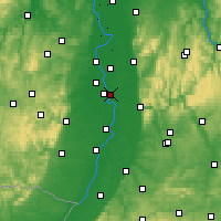 Nearby Forecast Locations - Neuostheim/Neuhermsheim - Carte