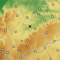 Nearby Forecast Locations - Waibstadt - Carte