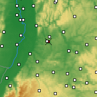 Nearby Forecast Locations - Kraichgau - Carte