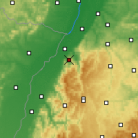Nearby Forecast Locations - Baden-Baden - Carte