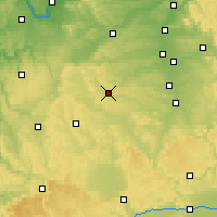 Nearby Forecast Locations - Ansbach - Carte