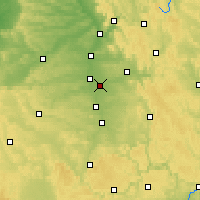 Nearby Forecast Locations - Nuremberg - Carte