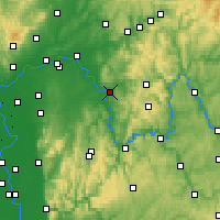 Nearby Forecast Locations - Aschaffenbourg - Carte
