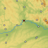 Nearby Forecast Locations - Ratisbonne - Carte