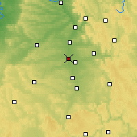 Nearby Forecast Locations - Fürth - Carte