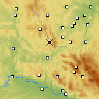 Nearby Forecast Locations - Waldmünchen - Carte