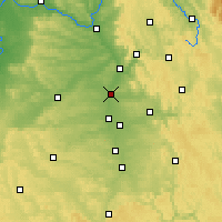 Nearby Forecast Locations - Erlangen - Carte