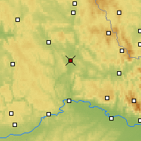 Nearby Forecast Locations - Schwandorf - Carte