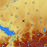 Nearby Forecast Locations - Leutkirch im Allgäu - Carte