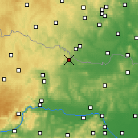 Nearby Forecast Locations - Hollabrunn - Carte