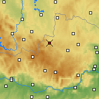 Nearby Forecast Locations - Weitra - Carte