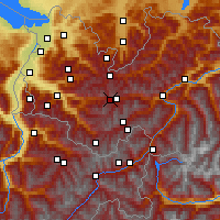 Nearby Forecast Locations - Alpe-Rauz - Carte