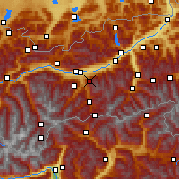 Nearby Forecast Locations - Patscherkofel - Carte