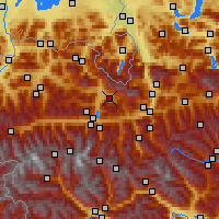Nearby Forecast Locations - Maria Alm - Carte