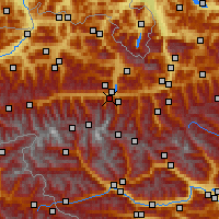 Nearby Forecast Locations - Kaprun - Carte