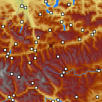 Nearby Forecast Locations - Radstadt - Carte