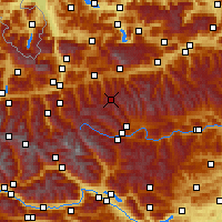 Nearby Forecast Locations - Obertauern - Carte
