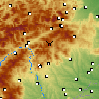 Nearby Forecast Locations - Fischbach - Carte
