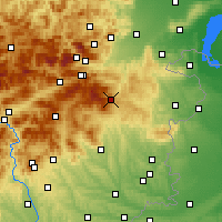 Nearby Forecast Locations - Mönichkirchen - Carte