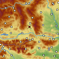 Nearby Forecast Locations - Sankt Andrä - Carte