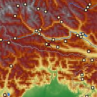 Nearby Forecast Locations - Kötschach - Carte