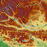 Nearby Forecast Locations - Arriach - Carte