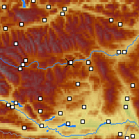 Nearby Forecast Locations - Murau - Carte