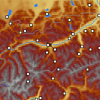 Nearby Forecast Locations - Innsbruck/université. - Carte