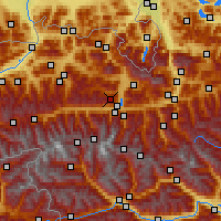 Nearby Forecast Locations - Schmittenhöhe - Carte