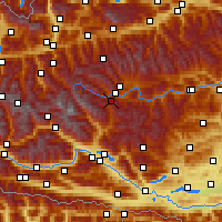Nearby Forecast Locations - Katschberg - Carte