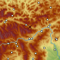 Nearby Forecast Locations - Kalwang - Carte