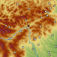 Nearby Forecast Locations - Kapfenberg - Carte