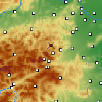Nearby Forecast Locations - Gutenstein - Carte