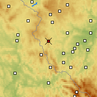Nearby Forecast Locations - Přimda - Carte