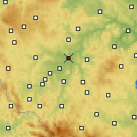 Nearby Forecast Locations - Plzeň - Carte