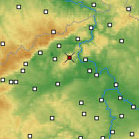 Nearby Forecast Locations - Milešovka - Carte